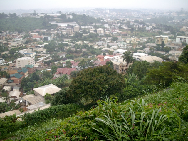 A view of Yaounde, Cameroon's capital, from nearby Mount Febe.